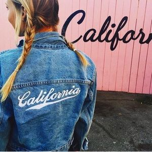 Brandy Melville California embroidered jacket new